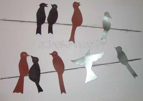 Как нарисовать улетающих птиц