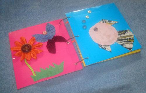 Книжка-малышка из бумаги для садика