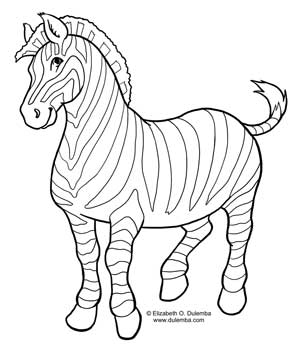 171                                      Zebra Head Coloring Pages