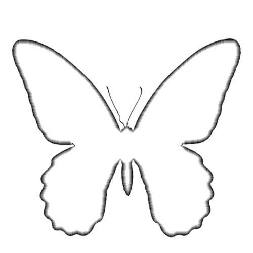 бабочка рисунок: