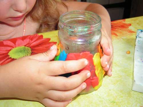 Ваза с пластилин с своими руками